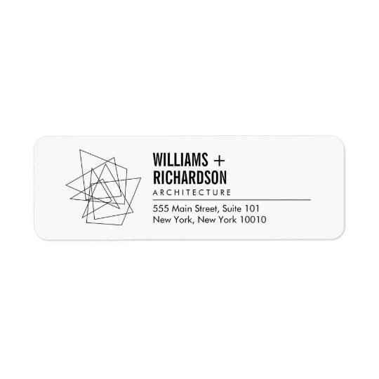 Abstract Geometric Architectural Logo White/Black