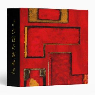 Abstract Geometric Art Painting, Red Gold Black Binder