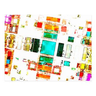 Abstract Geometric Art Postcard