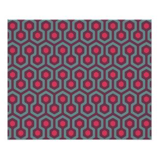 Abstract Geometric Beehive Pattern Photo Print