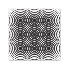 abstract geometric black and white design canvas print