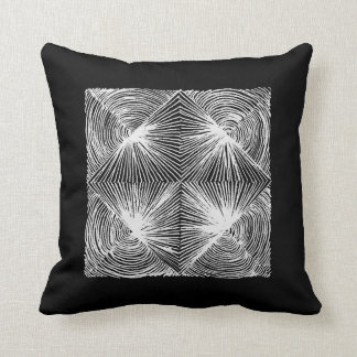 abstract geometric blackandwhite throw pillow