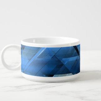Abstract geometric blue chili bowl