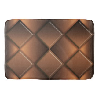 Abstract geometric chocolate pattern. bath mat