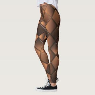 Abstract geometric chocolate texture. leggings