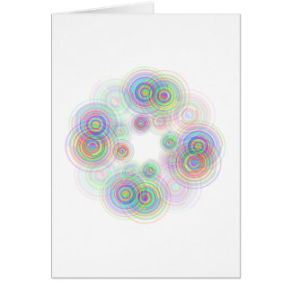 Abstract geometric circles. card