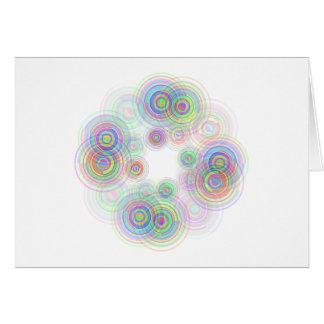 Abstract geometric circles. card