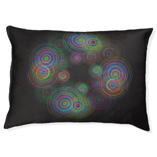Abstract geometric circles. large dog bed