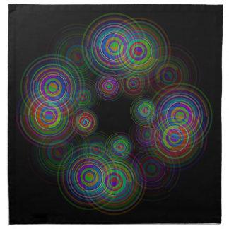 Abstract geometric circles. napkin