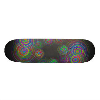 Abstract geometric circles. skate board deck