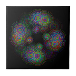 Abstract geometric circles. tile