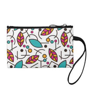 Abstract Geometric Colorful Seamless Pattern Coin Purse