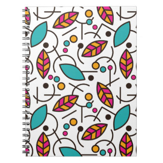 Abstract Geometric Colorful Seamless Pattern Spiral Notebook