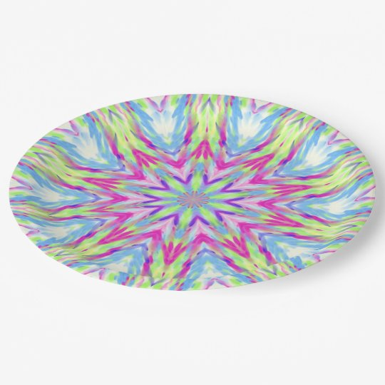Abstract Geometric Colourful Plate 9 Inch Paper Plate