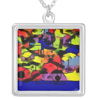 Abstract Geometric Contemporary Modern Necklace