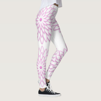 Abstract geometric Flower. Leggings
