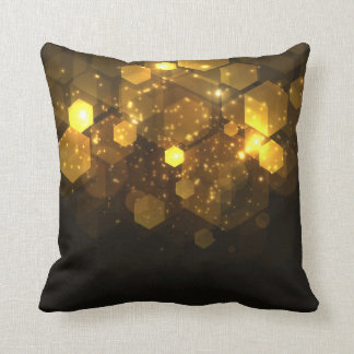Abstract Geometric Gold Design | Throw Pillow