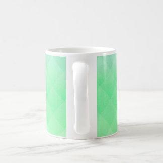 Abstract Geometric Green Coffee Mug