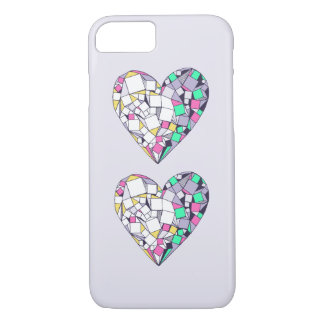 Abstract Geometric Heart Drawing iPhone 7 Case