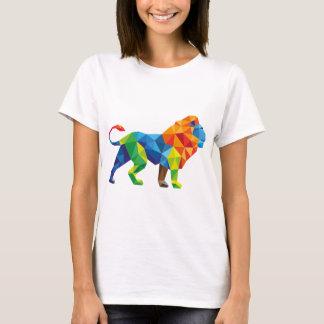 Abstract Geometric Lion T-Shirt