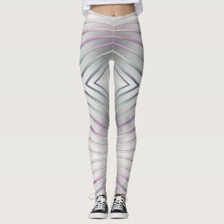 abstract geometric metallic texture. leggings