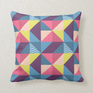 Abstract Geometric Mix Throw Pillow