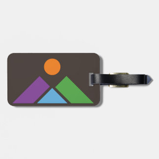 Abstract Geometric Mountain Luggage Tag