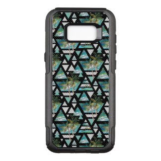 Abstract Geometric Palms & Waves Pattern OtterBox Commuter Samsung Galaxy S8+ Case