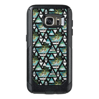 Abstract Geometric Palms & Waves Pattern OtterBox Samsung Galaxy S7 Case