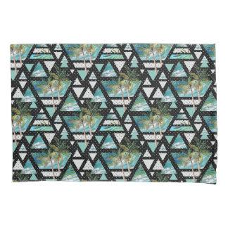 Abstract Geometric Palms & Waves Pattern Pillowcase
