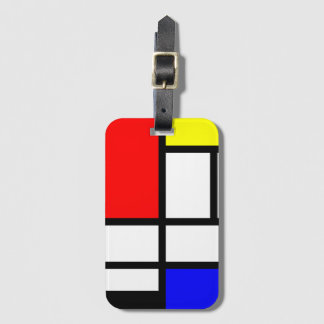 Abstract Geometric Pattern Baggage Labels Luggage Tag