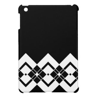 Abstract geometric pattern - black and white. cover for the iPad mini