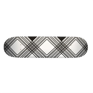Abstract geometric pattern - black and white. custom skateboard