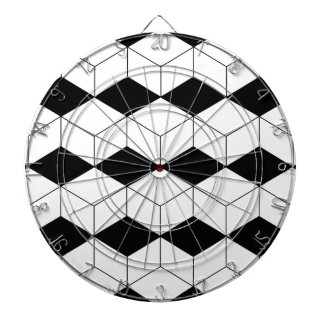 Abstract geometric pattern - black and white. dartboard