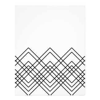 Abstract geometric pattern - black and white. letterhead