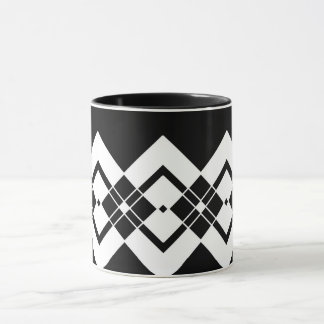 Abstract geometric pattern - black and white. mug