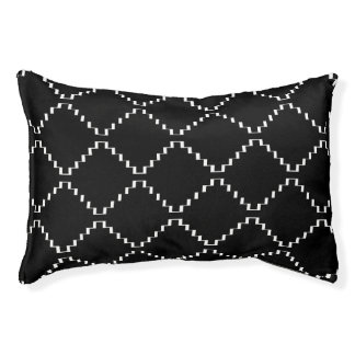 Abstract geometric pattern - black and white. pet bed