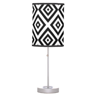 Abstract geometric pattern - black and white. table lamp