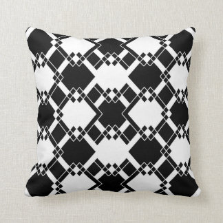 Abstract geometric pattern - black and white. throw pillow