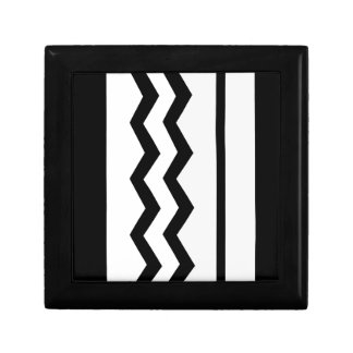 Abstract geometric pattern - black, gray, white. gift box