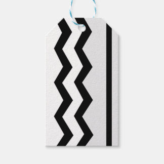 Abstract geometric pattern - black, gray, white. gift tags