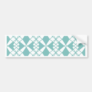 Abstract geometric pattern - blue and white. bumper sticker