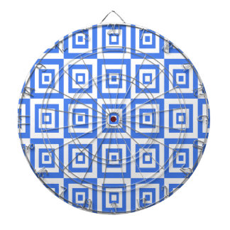 Abstract geometric pattern - blue and white. dartboard