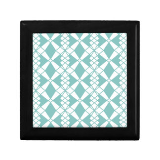 Abstract geometric pattern - blue and white. gift box