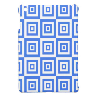 Abstract geometric pattern - blue and white. iPad mini case