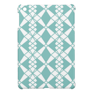 Abstract geometric pattern - blue and white. iPad mini cover