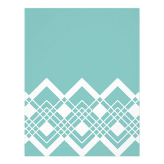 Abstract geometric pattern - blue and white. letterhead
