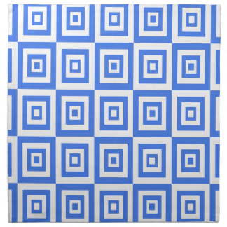 Abstract geometric pattern - blue and white. napkin