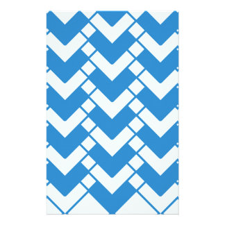 Abstract geometric pattern - blue and white. stationery
