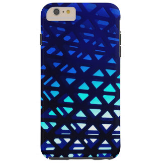 Abstract Geometric Pattern Blue Glow Tough iPhone 6 Plus Case